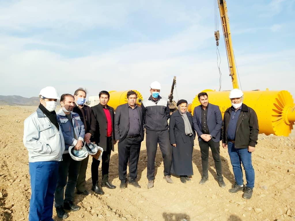 آغاز عملیات فاز یک کارخانه تولید کنسانتره شرکت سنگ آهن اسپیدان نطنز