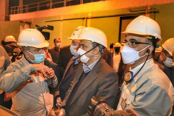 بازدید وزیر صمت از بخش های مختلف شرکت فولاد مبارکه اصفهان
