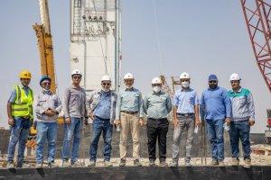 نصب تجهیزات واحدجداسازی اکسیژن در پروژه فولاد شادگان