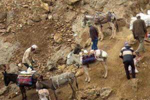 کشف و ضبط 4 تن سنگ معدن قاچاق در اسفراین