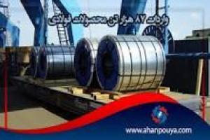 واردات ۸۷ هزار تن محصولات فولادی